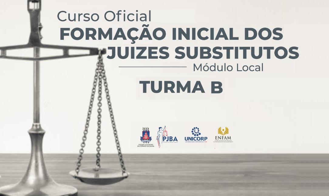 Formação Inicial de Juízes Substitutos 2021 - Turma 2B